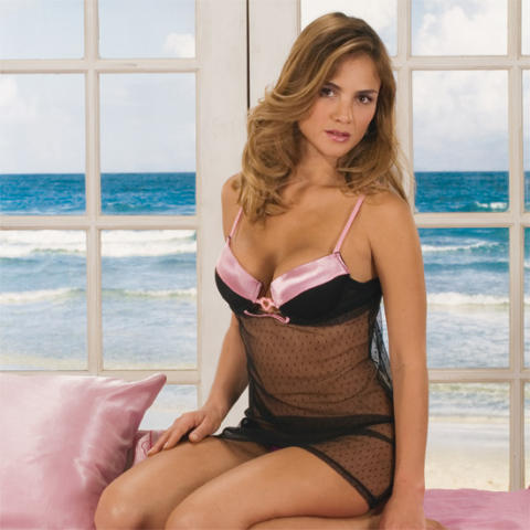 34B Breast Size http://www.ebay.com/itm/Sexy-Satin-Kissed-Bra-Top-Nightgown-Lingerie-34B-NEW-/320211264794