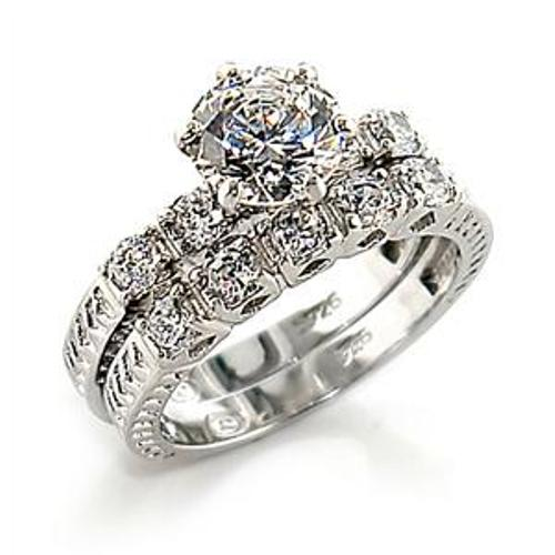 1 95ct Brilliant Cut Women s Wedding Engagement Rings Set Size 5 6 7 8 9
