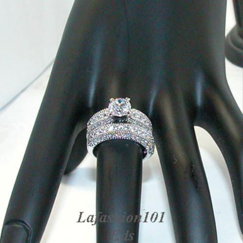 Women Wedding Ring on New Stunning Women S Dream Wedding Rings Set Sz 7   Ebay
