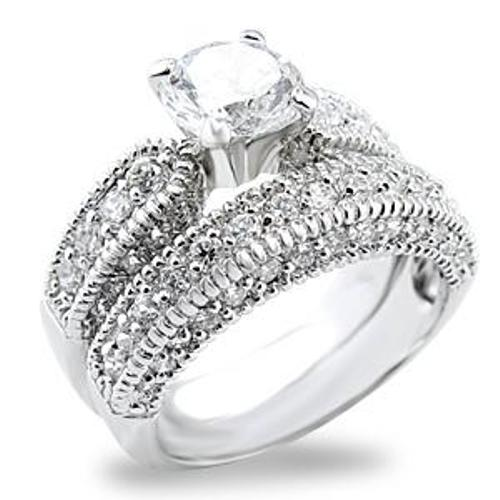 Details about NEW Stunning Women's Dream Wedding RINGS SET sz 7