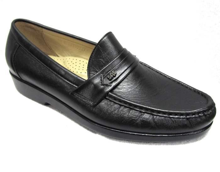 new mens sas ace shoes size 9 5 m black leather moc