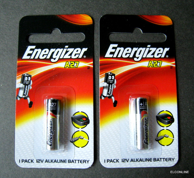 Energizer A27 27a Key Remote Alkaline 12v Battery Gtcs Ex