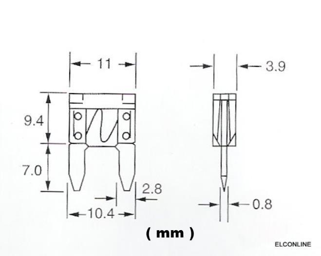 atm mini blade fuse 1a