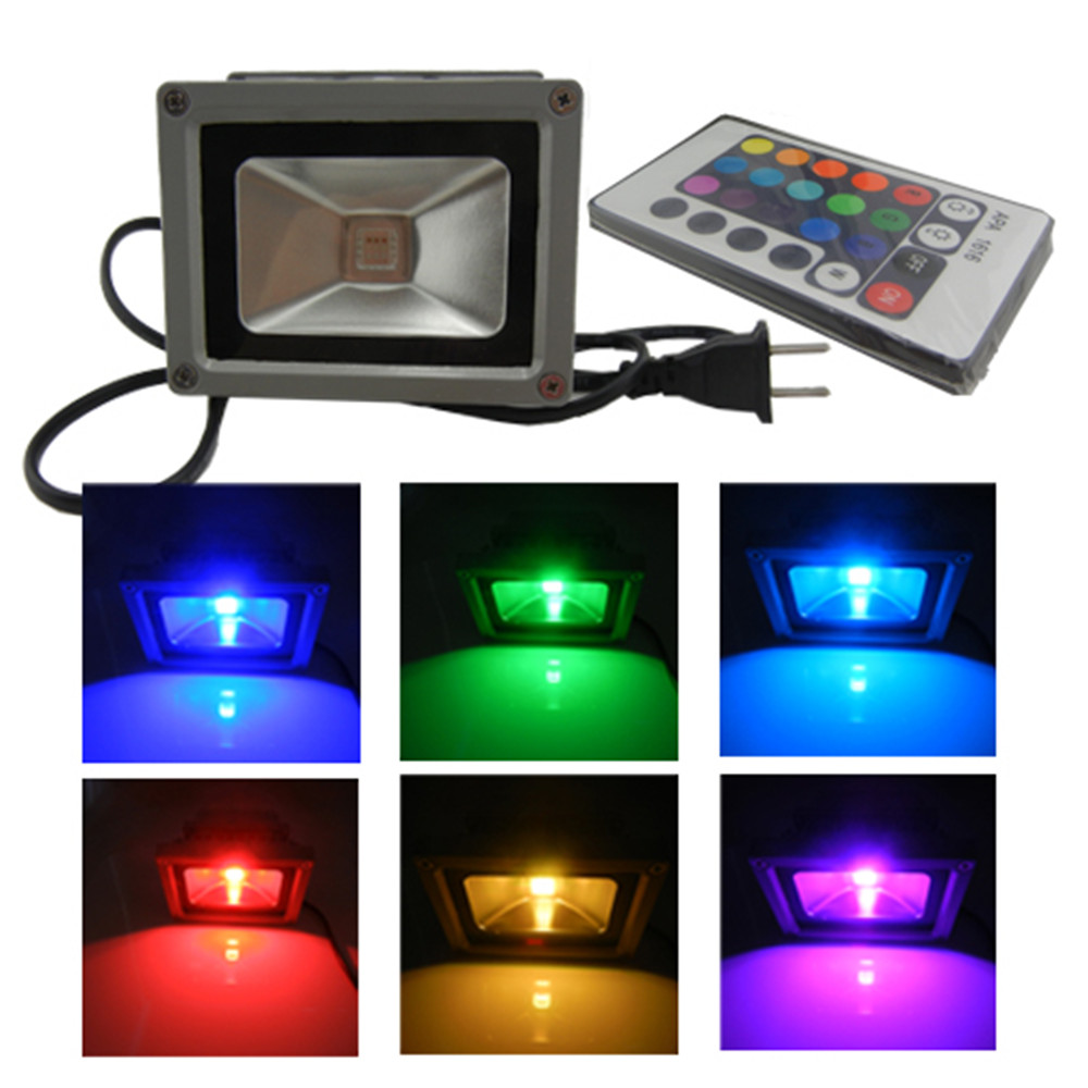 Waterproof remote control 10w rgb led outdoor floodlight - Remote control exterior light switch ...