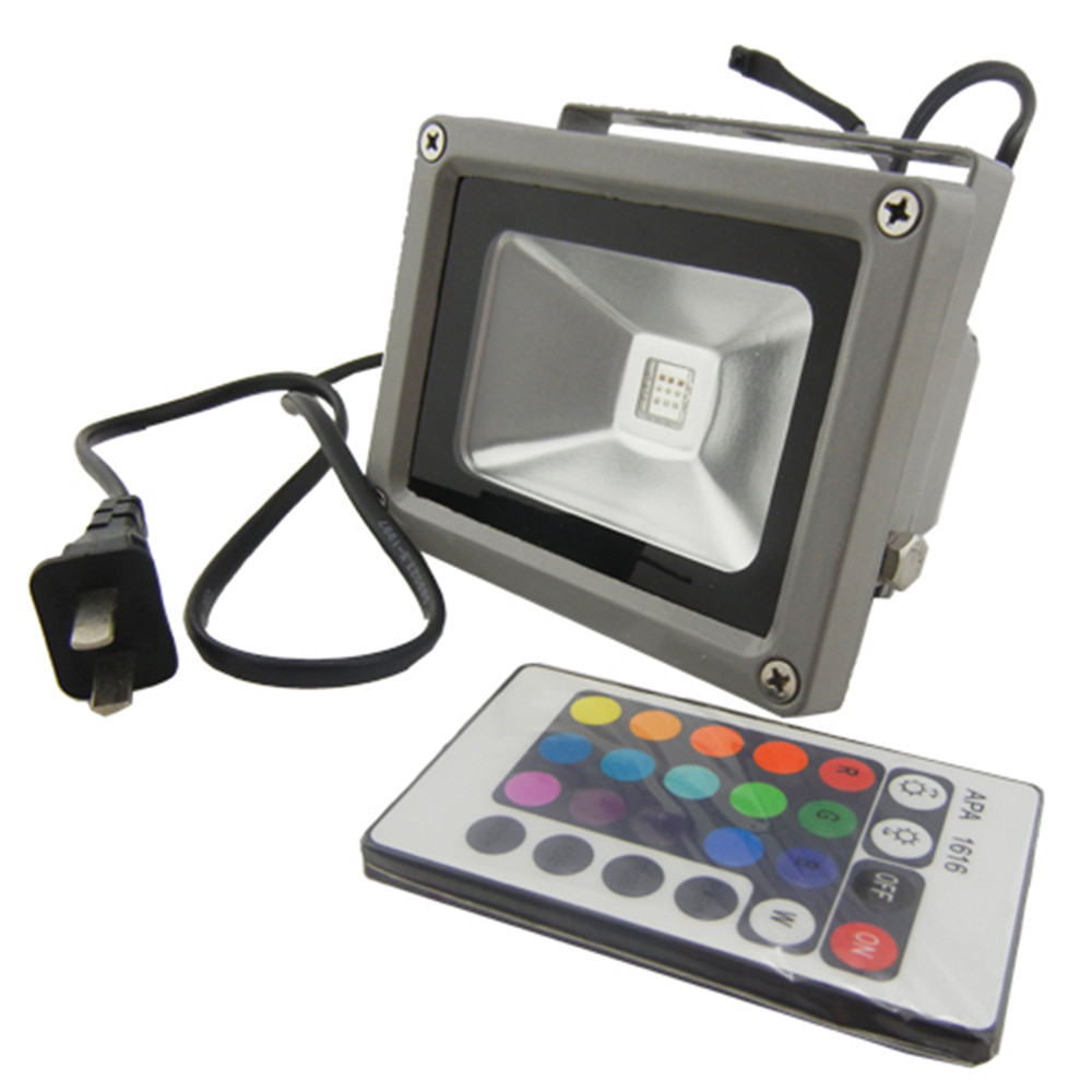 Waterproof remote control 10w rgb led outdoor floodlight - Remote control exterior lighting ...
