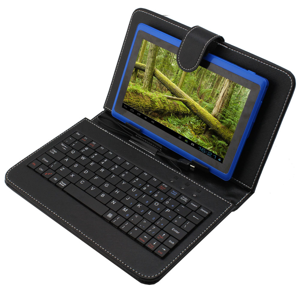 "Premium 7"" Android 4 2 Dual Camera Capacitive Screen Tablet PC Keyboard Case New"