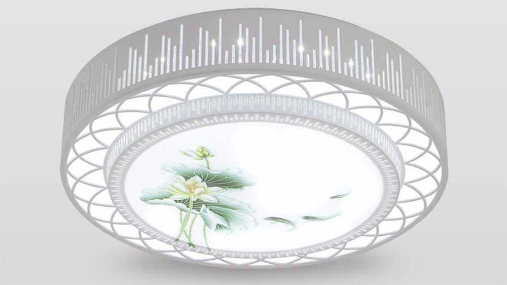 Water Lotus LED Ceiling Light Modern Home Fixture Flush Mount Lighting Dimmable