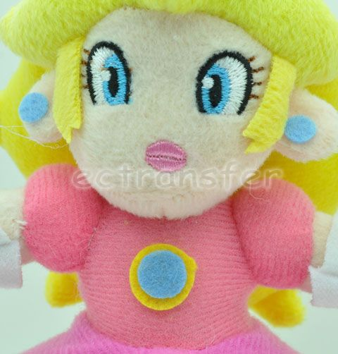 "Super Mario Bros 7"" Princess Peach Plush Doll Toy MT87"