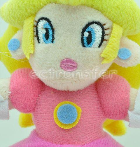 "Super Mario Bros 7"" Princess Peach Plush Doll Toy MT87"
