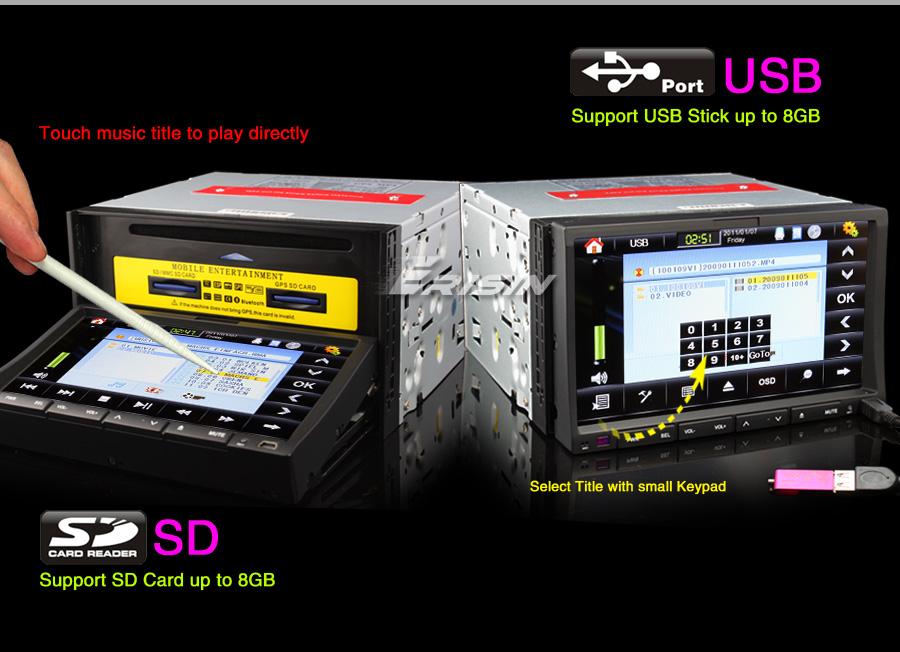 ES806G 7 Double Din HD 3D Car Radio Stereo GPS Nav iPod TV USB SD PiP