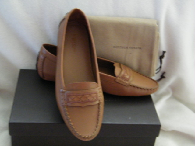 BOTTEGA-VENETA-SHOES-SANDALS-MOCCASINS-TAN-BROWN
