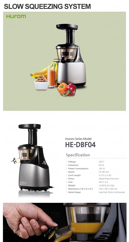 Slow Juicer Extractor Sencor : New 2013 Hurom HE-DBF04 Slow Juicer Extractor - vegetable ...