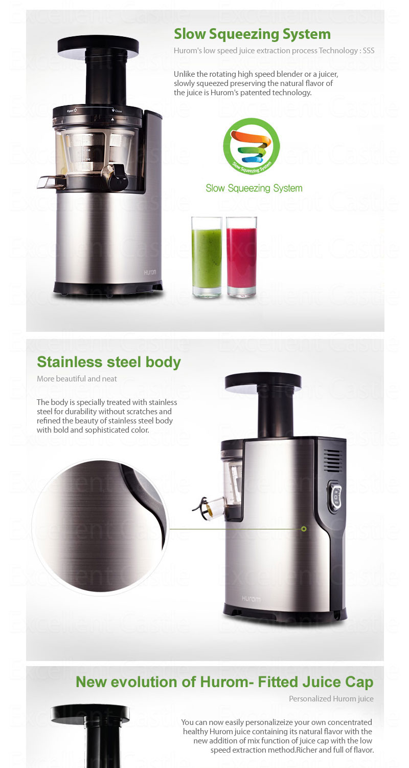Hurom Slow Juicer Manufacturer : New Hurom HF-SBF06 Low Speed Slow Squeezing Silent Masticating Juicer Extractor eBay