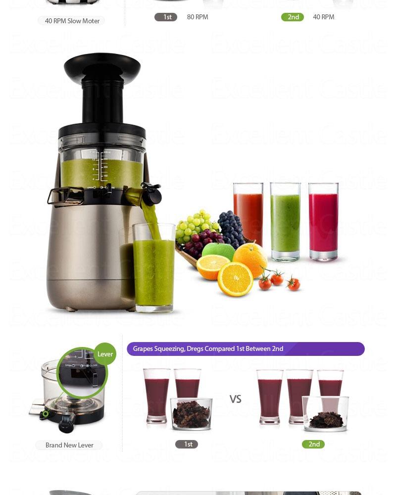 Hurom Slow Juicer With Tofu Maker And 2 Fruit Strainers : Nuovo Estrattore Succo Frutta vegetali 2? generazione HU ...