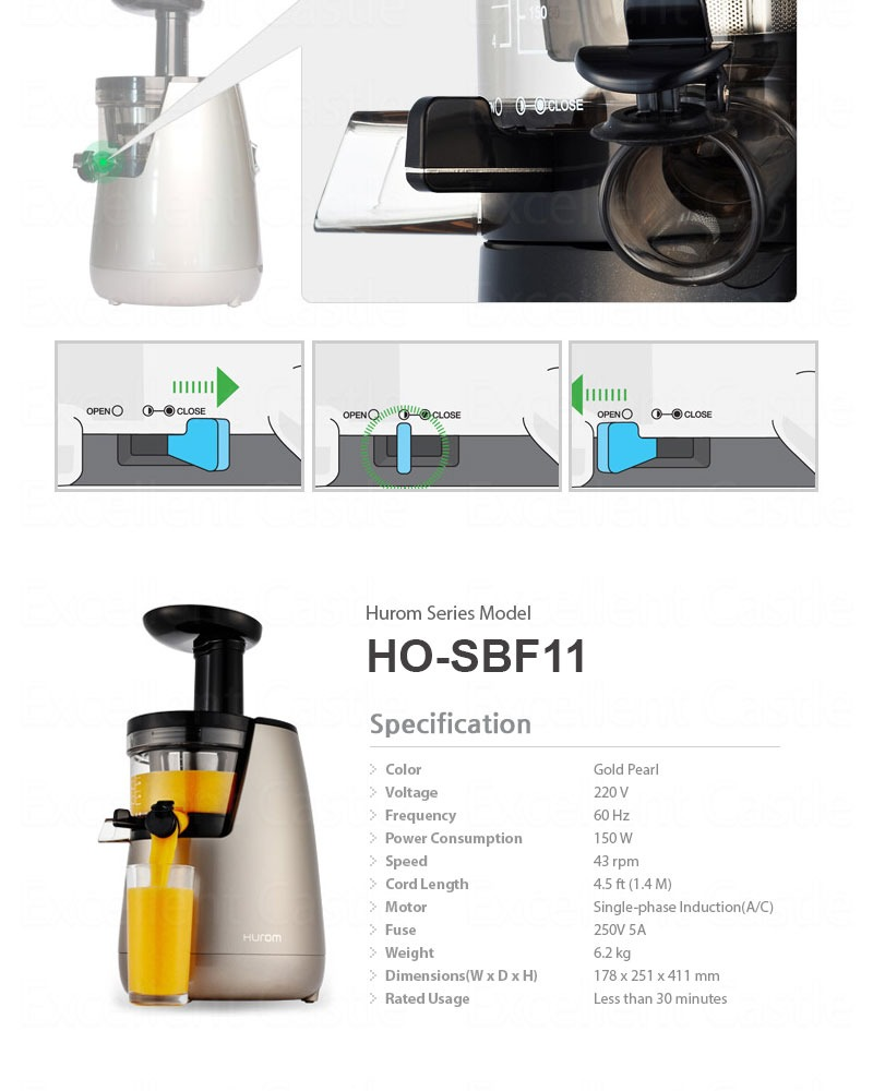Hurom Hh Wbe11 Slow Juicer Estrattore Di Succo 2 : Nuovo Estrattore Succo Frutta vegetali 2? generazione HU-700 Hurom HO-SBF11 eBay