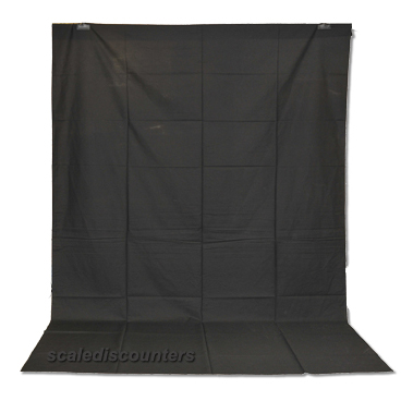 Black Muslin Backdrop