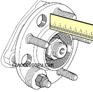 How to measure 5 bolt pattern trailer wheel/hubs