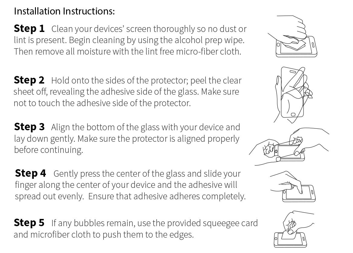 Detailed instructions how to stick a protective glass on the phone