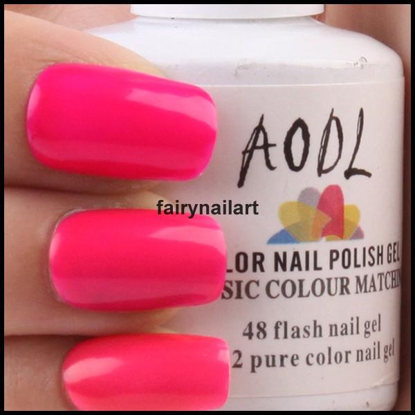 Hot Pink Gel Polish: 15ml Peach Hot Pink Neon Soak Off UV Gel Polish Nail Art