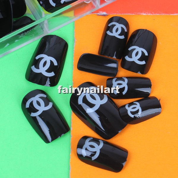 70pcs-CC-Brand-Logo-Full-False-Nail-Tips-Nail-Art-Use-New