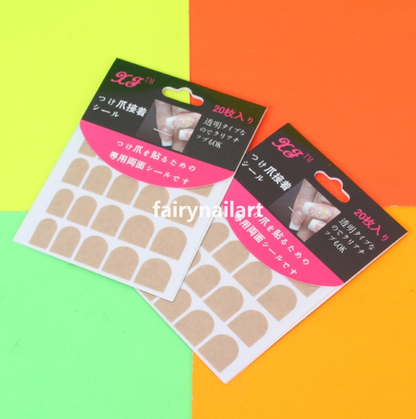 40pcs-Clear-False-Nail-Tips-Double-Sides-Adhesive-Glue-Sticky-Tape-Nail-Art-Use
