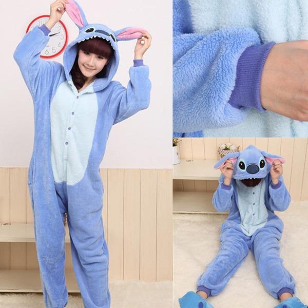 Blue Stitch Adult Kigurumi Pajamas Animal Cosplay Costume