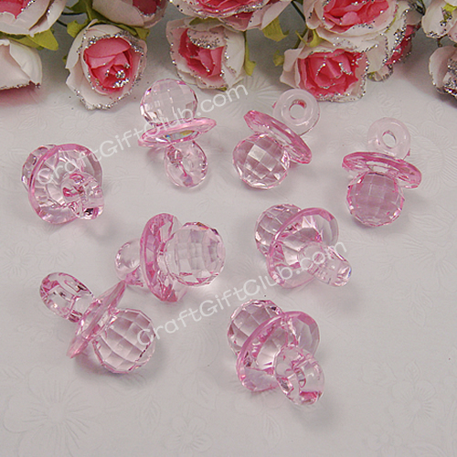 5 - 20 Pacifier Acrylic Bead Baby Shower Confetti Party Decorate Pick 7 Color