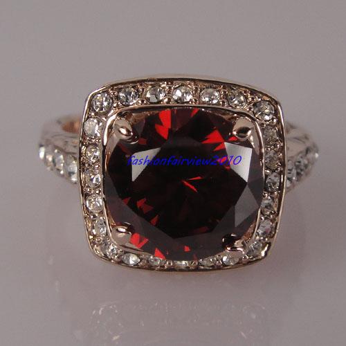 red - Stone Wedding Rings