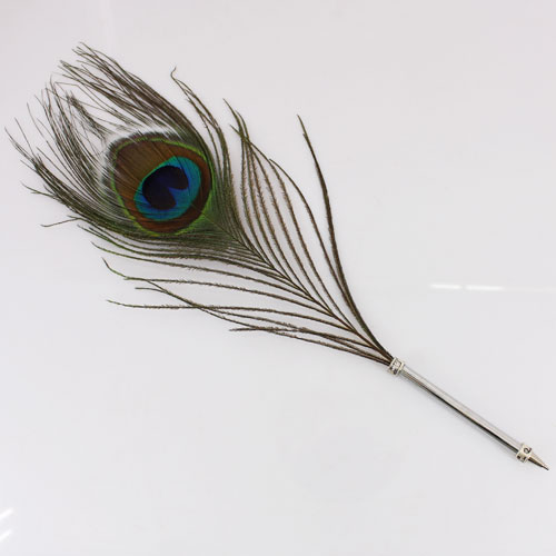 Beautiful Quill Ball Pen With Peacock Feather A107 Ebay