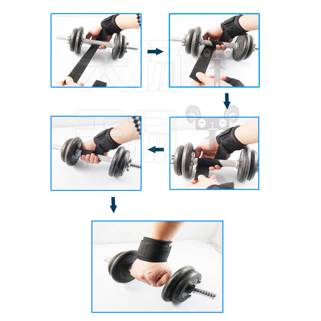 Quality Gym Weight Lifting Strap Heavy Duty Wrist: Gym Wrist Straps Weight Lift Weightlifting Bodybuilding