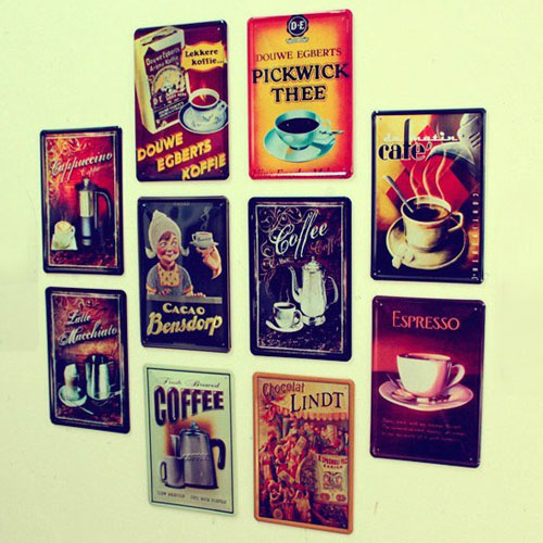 Bar Wall Decor wall art metal decor picture painting for bar ''coffee '' metal