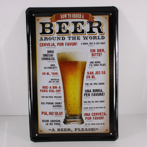 Wall-Art-Metal-Decor-Picture-Painting-for-Bar-A-beer-please-DT43