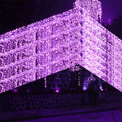 1000-LED-Icicle-Curtain-Lights-String-10-3M-Purple-L30