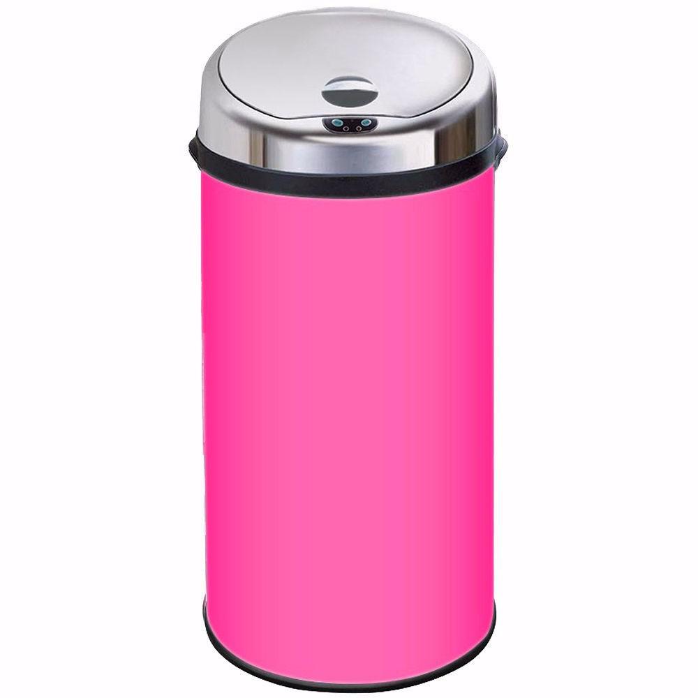 Inmotion pink stainless steel auto sensor kitchen waste bin ebay - Pink kitchen trash can ...