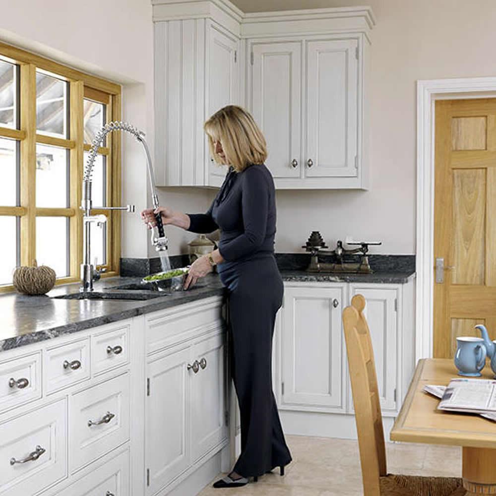 Astini Ignace Professional Chrome Pullout Spout Kitchen Sink Mixer ...