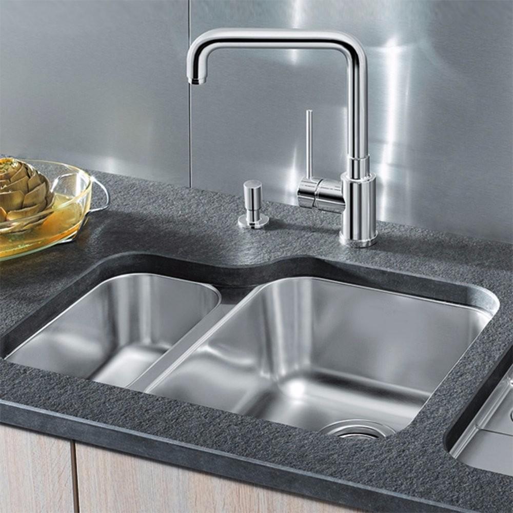 Hotpoint 1.5 Bowl Stainless Steel Undermount Kitchen Sink & Waste ...