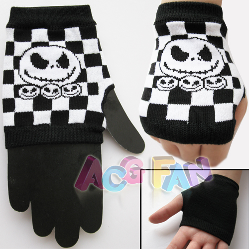 Details about Nightmare Before Christmas Jack Skull Punk Gloves G06
