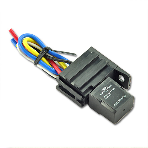 Car-30A-12V-Relay-Socket-Kit-For-Electric-Fan-Fuel-Pump-Light-Horn-5Pin-5-Wire