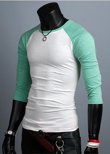New Unisex Womens 3 4 Sleeve Mens Raglan Casual Shirts For