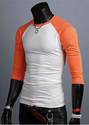 New Unisex Womens 3 4 Sleeve Mens Raglan Casual Shirts For