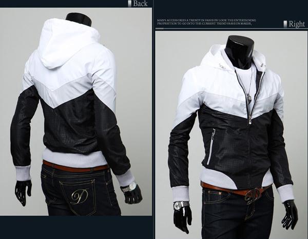 korea_pop mens windbreaker jackets wiht hoodie zip up jumper US sz ...