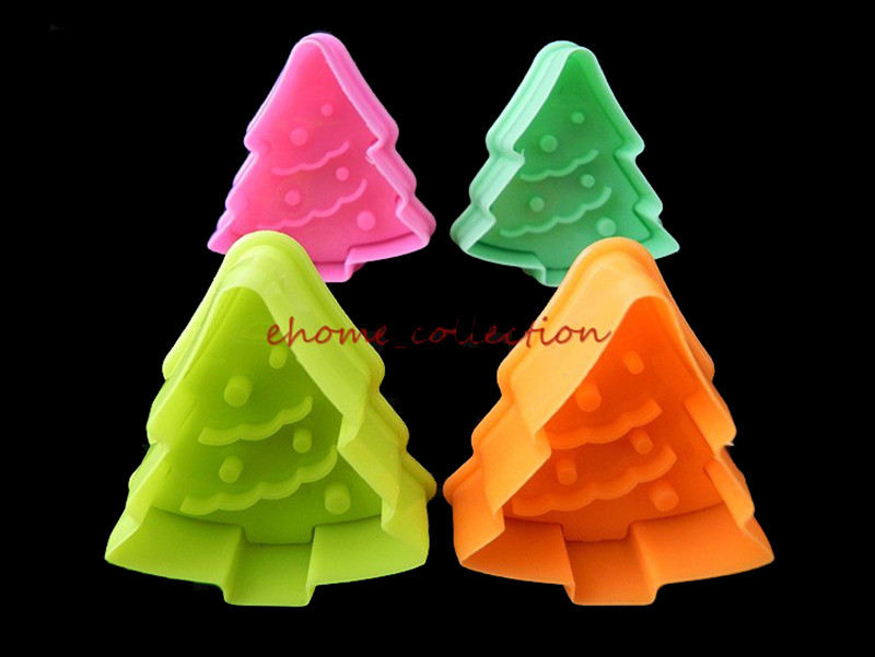 Cake Decorating Christmas Cutters : 4pcs Christmas Cookie Cake Decorating Plunger Cutters ...