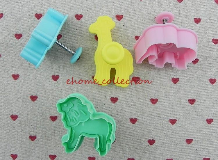 Elephant Cutter For Cake Decorating : 4x Giraffe/Lion/Zebra/Elephant Cake Decorating Cookie ...