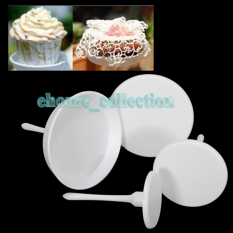 4 PCS Cake Flower Nails SET Cupcake Icing Cream Sugarcraft ...