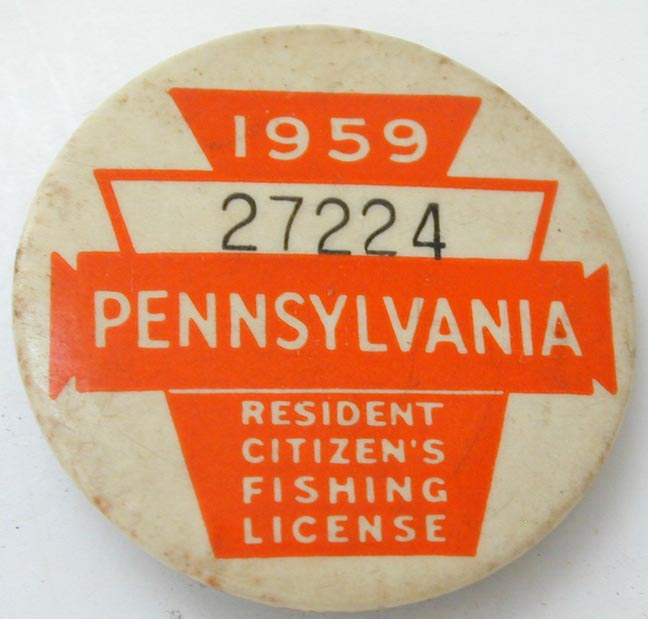 1919 pennsylvania fishing license pin 27224 ebay for Pa fishing license online