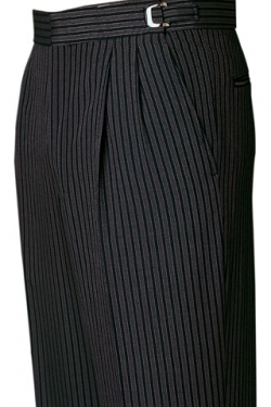 Details about Men's Gray Striped Hickory Morning Suit Pants Trousers