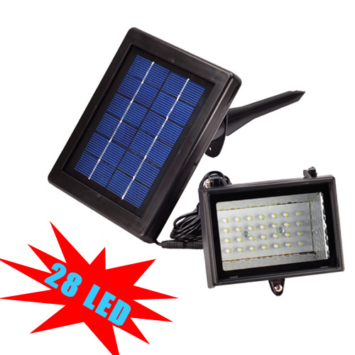 outdoor garden street solar flood lamp 28 led path light lighting