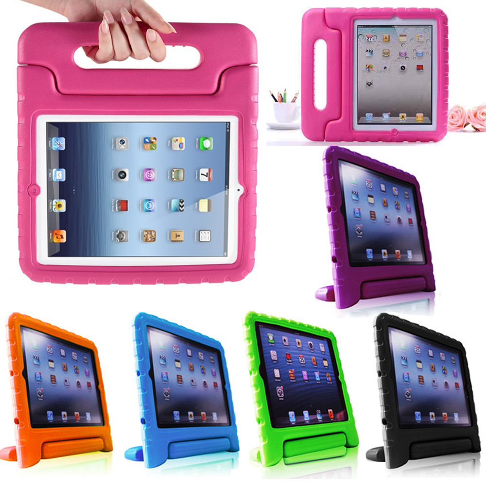 Kids-Safe-Thick-Foam-Shock-Proof-Handle-Case-Cover-for-iPad-4-3-2-or-iPad-mini