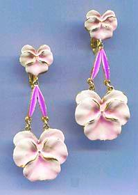 Vintage Pansy Earrings