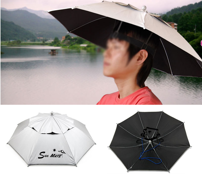 Umbrella Hat - Clear Plastic Dome Umbrellas